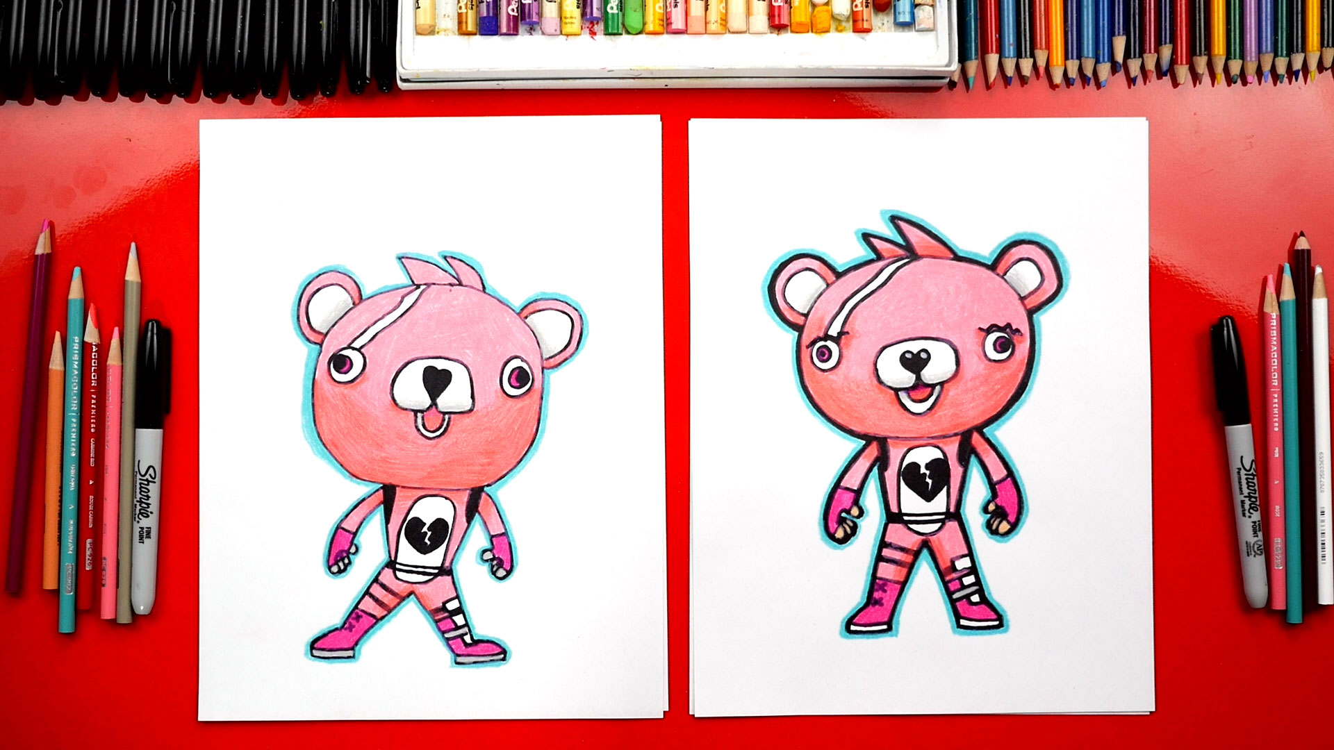 How To Draw Cuddle Team Leader Fortnite Challenge Time
