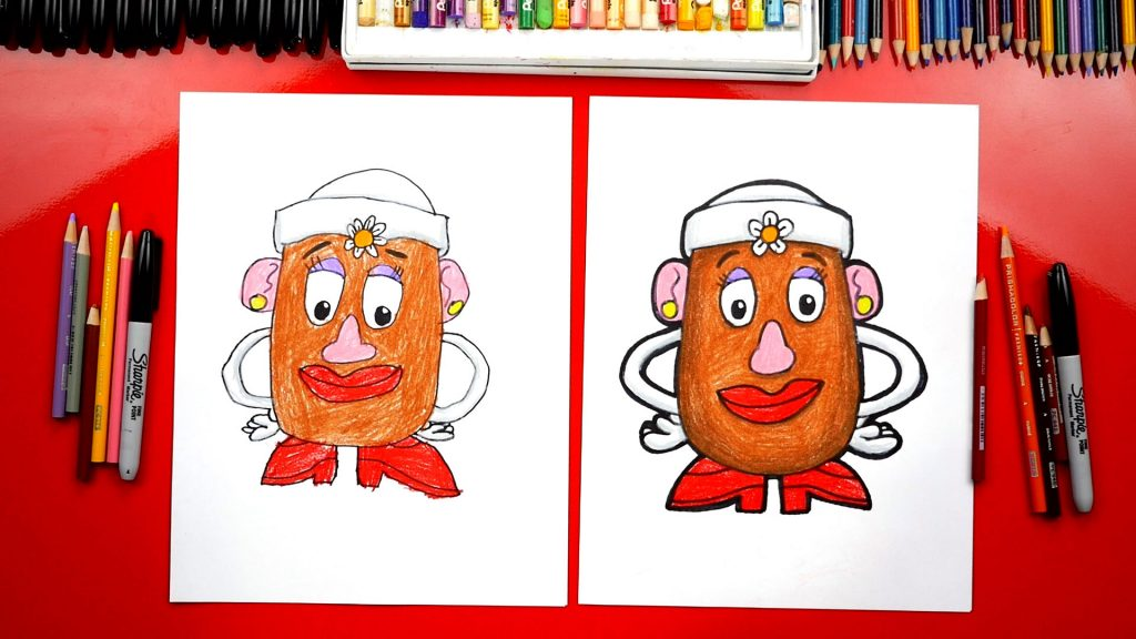 How To Draw Mrs. Potato Head – Challenge Time!