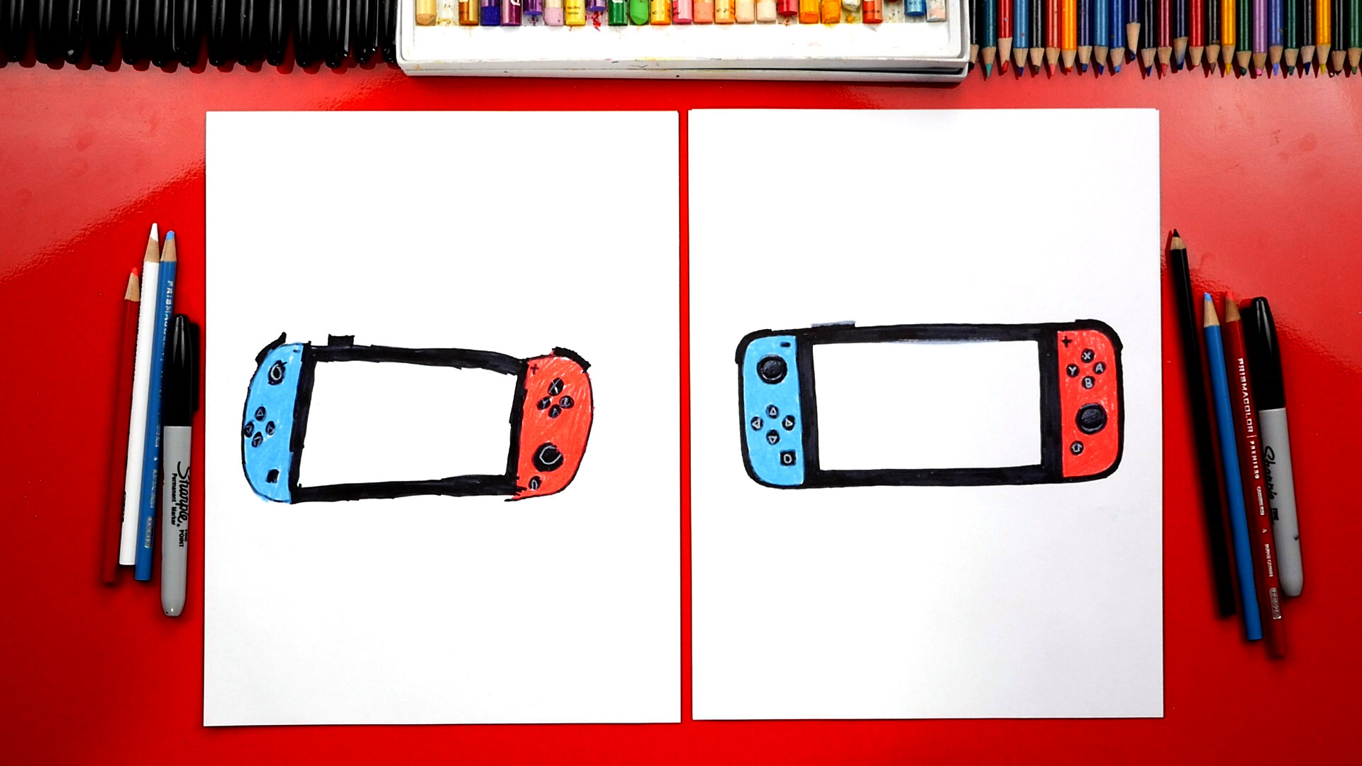 How To Draw A Nintendo Switch Challenge Time Art For Kids Hub