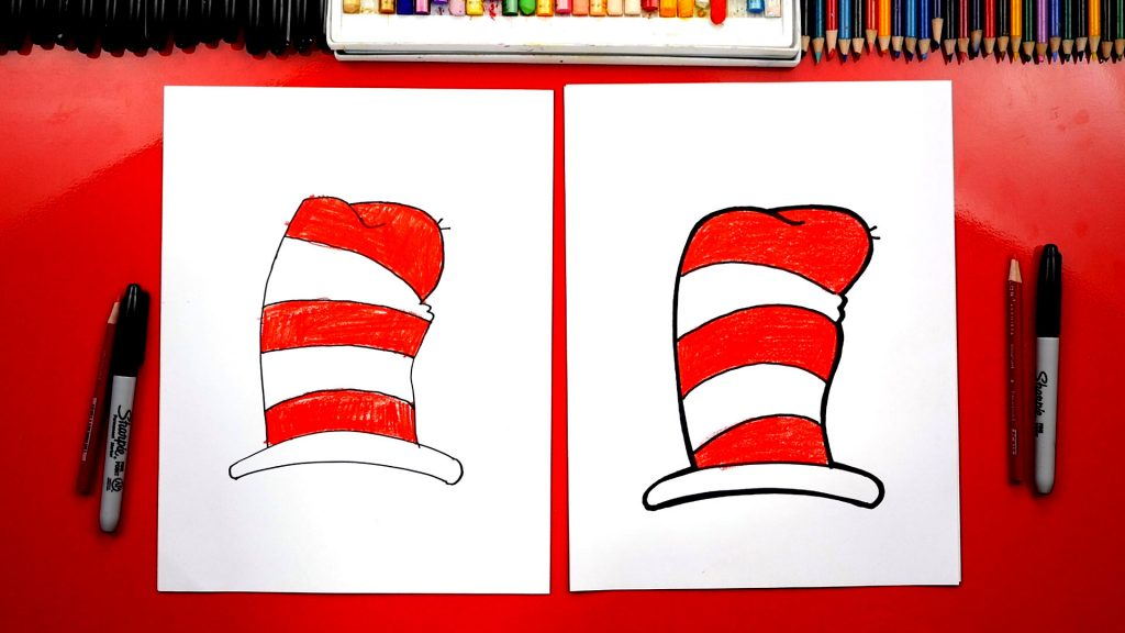 How To Draw The Dr. Seuss Hat From Cat In The Hat