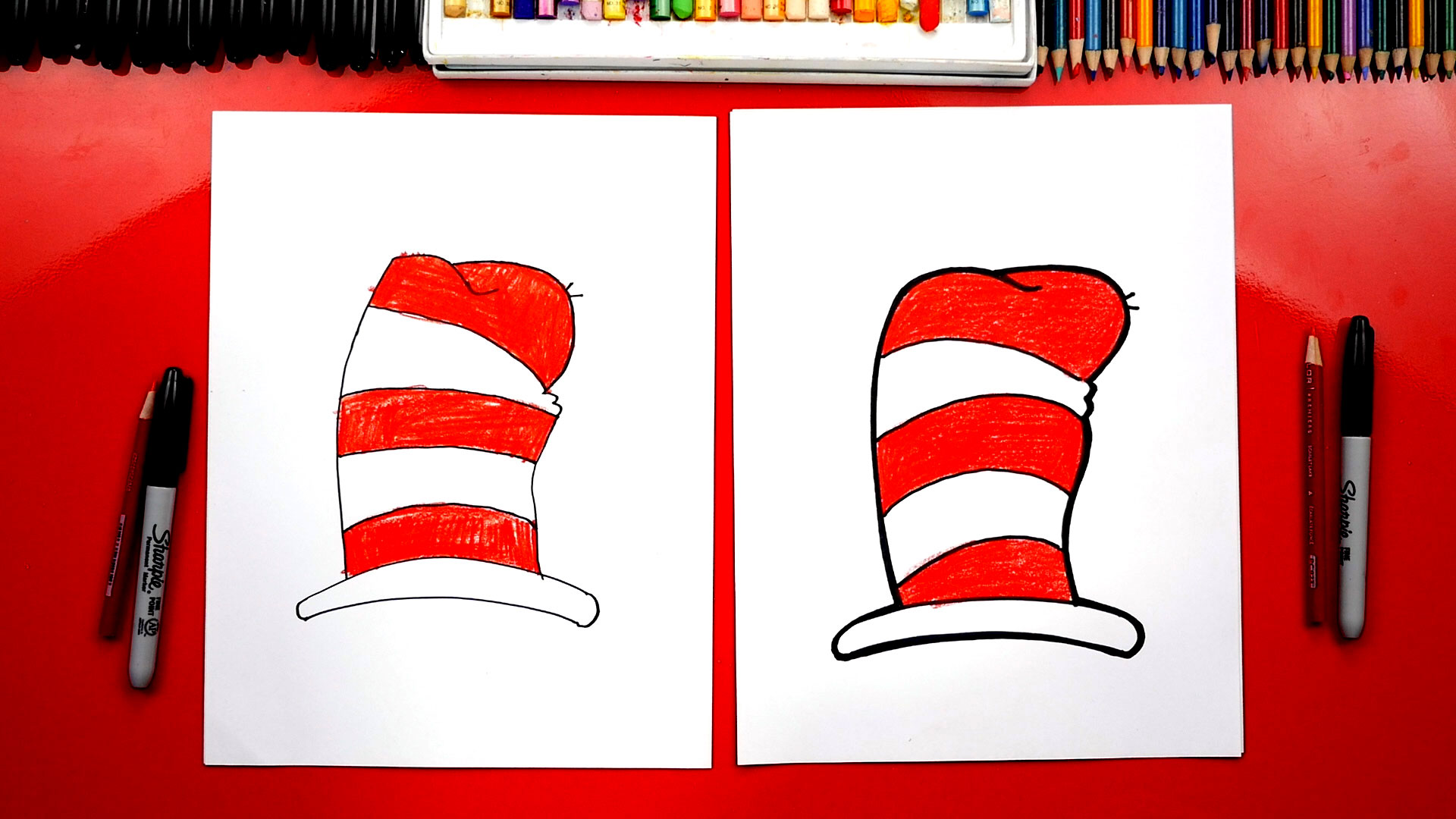 How To Draw The Dr Seuss Hat From Cat In The Hat Art For Kids Hub