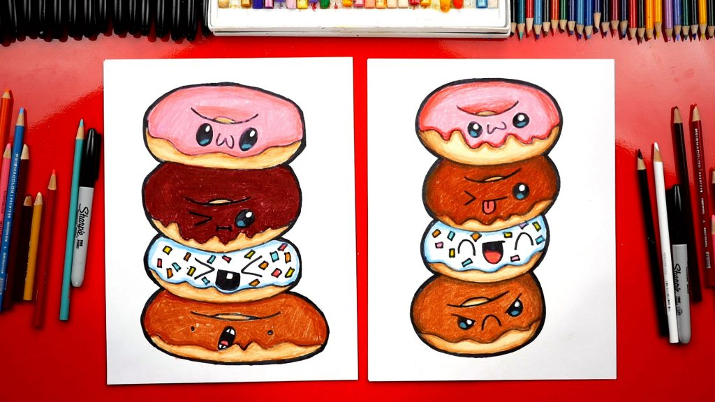 How To Draw A Doughnut Stack
