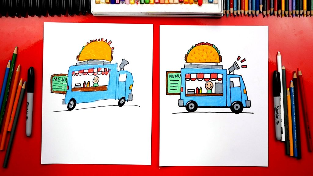 How To Draw A Food Truck + New Challenge Time