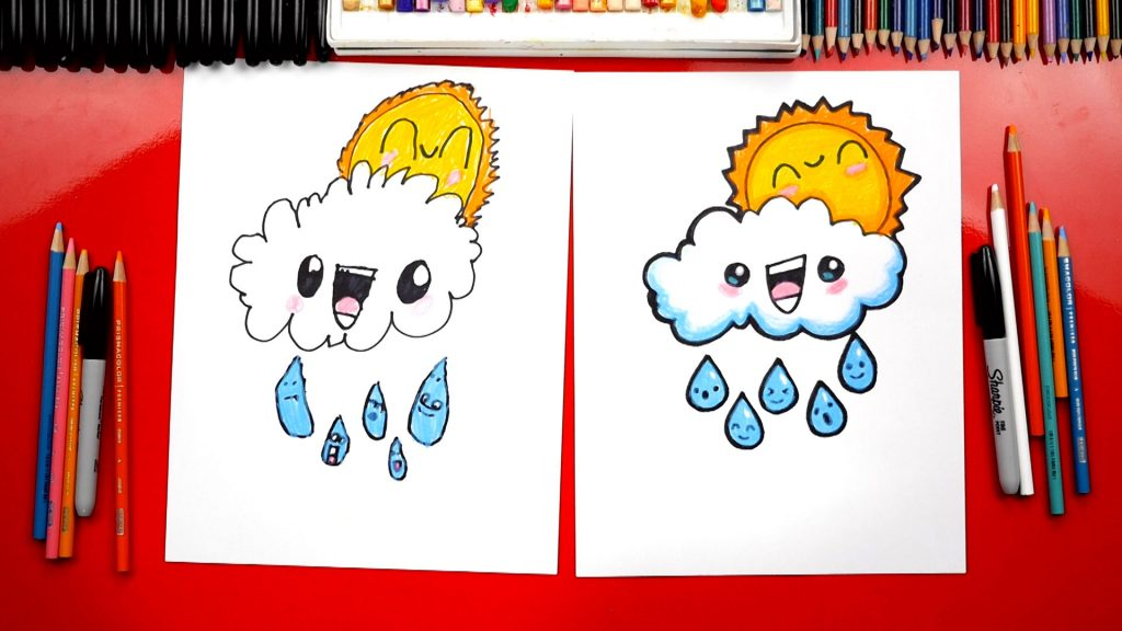 How To Draw A Rain Cloud + Spotlight
