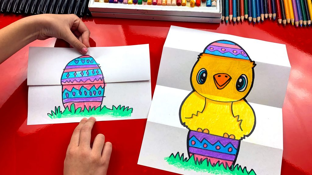 How To Draw An Easter Egg Folding Surprise