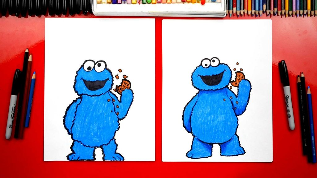 How To Draw Cookie Monster From Sesame Street