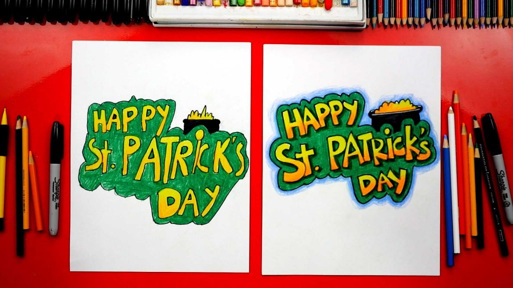 How To Draw St. Patrick's Day Words + Spotlight