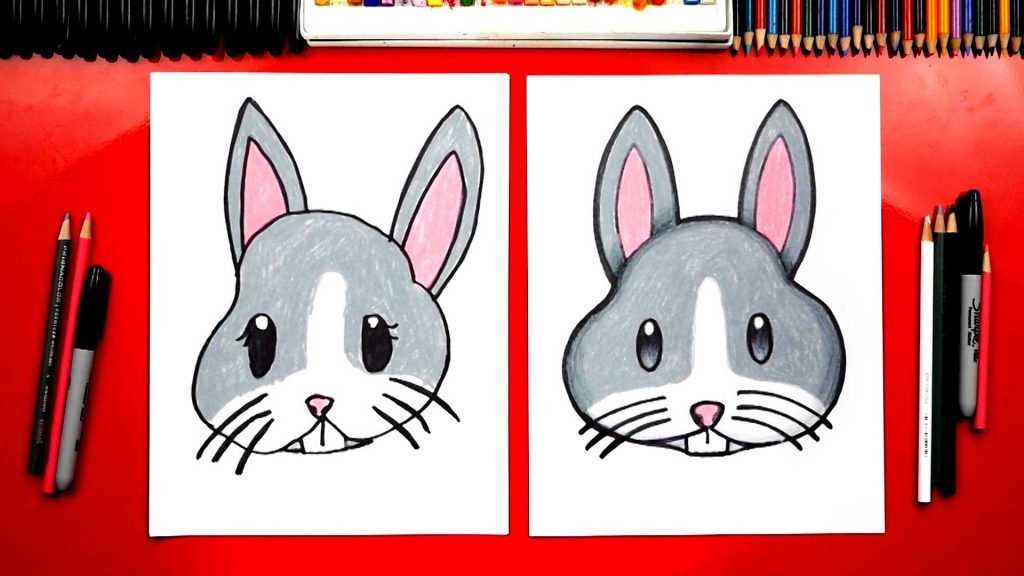 How To Draw A Bunny Emoji Face + Spotlight