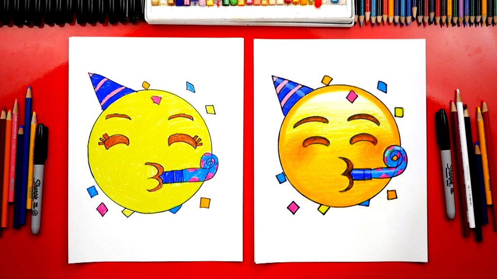 How To Draw The Party Emoji + Spotlight