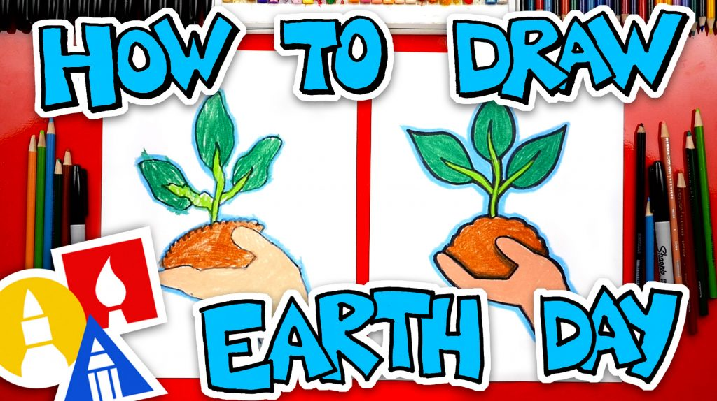 How To Draw A Hand Holding A Plant – Earth Day