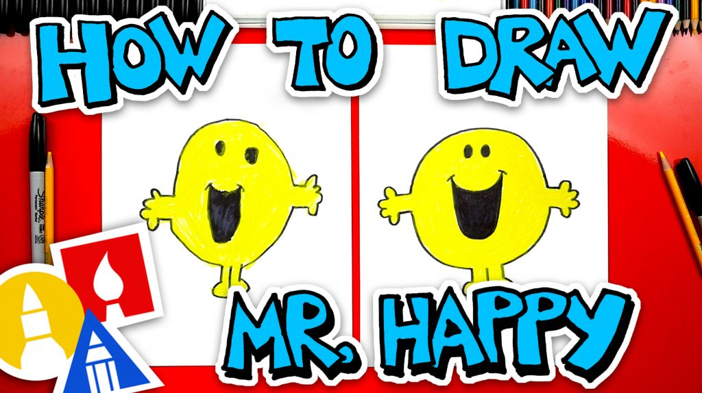 How To Draw Mr Happy From Mr Men