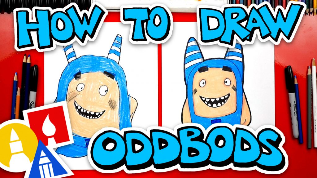 How To Draw Oddbods Pogo – The Blue One