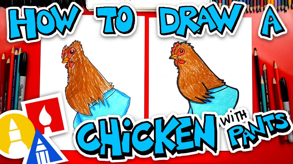 How To Draw A Chicken With Pants