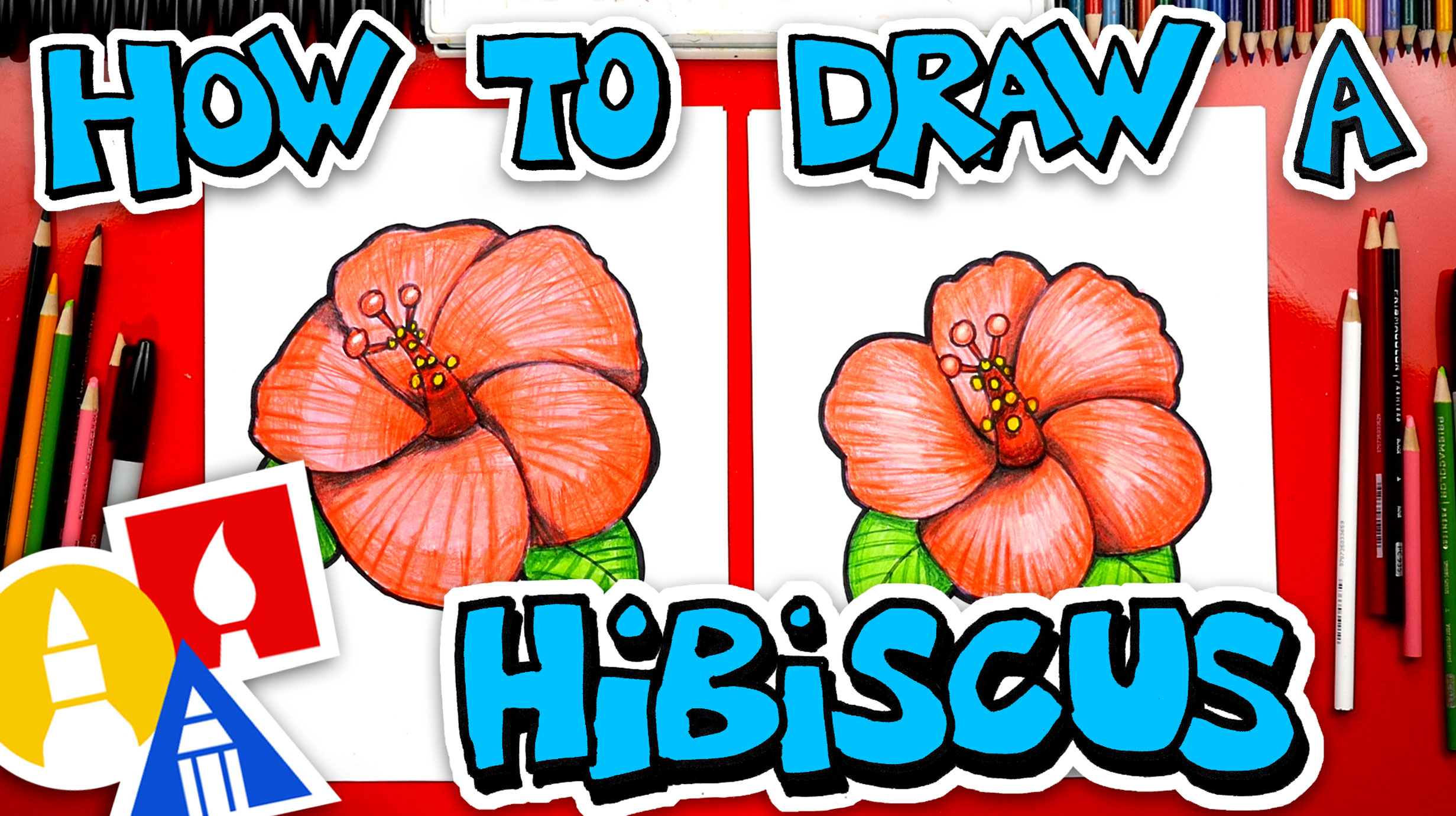 How To Draw A Hibiscus Flower Emoji Art For Kids Hub