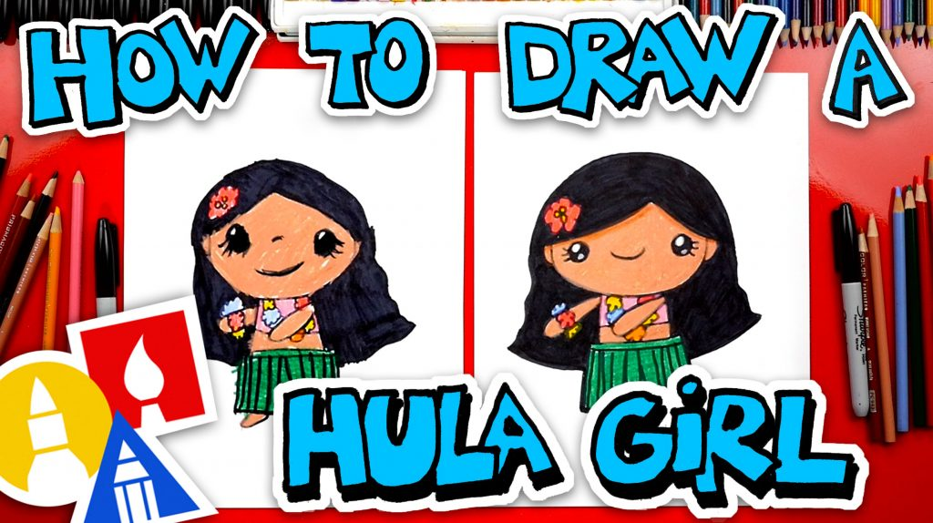 How To Draw A Cute Hula Girl