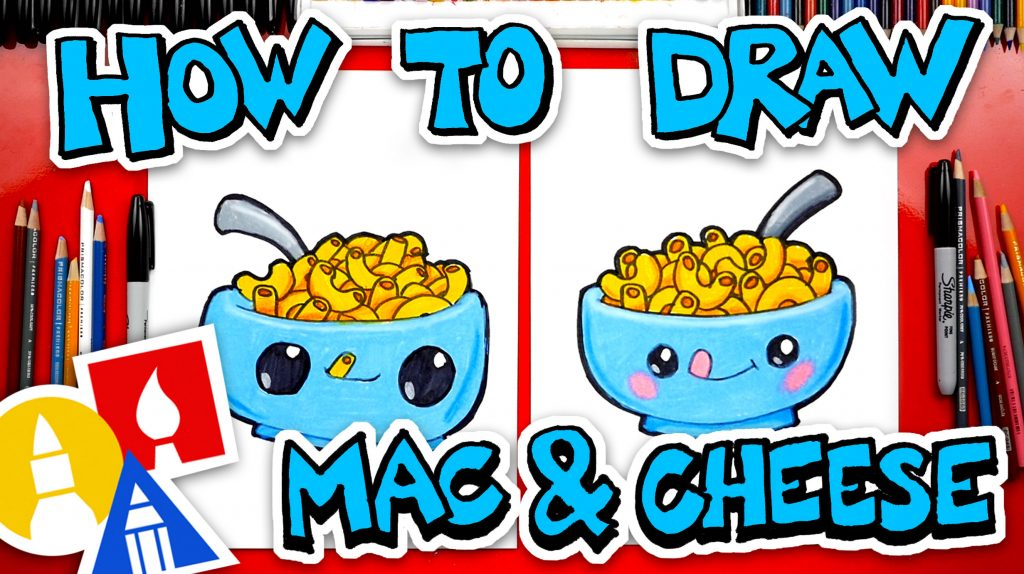 How To Draw Funny Macaroni And Cheese