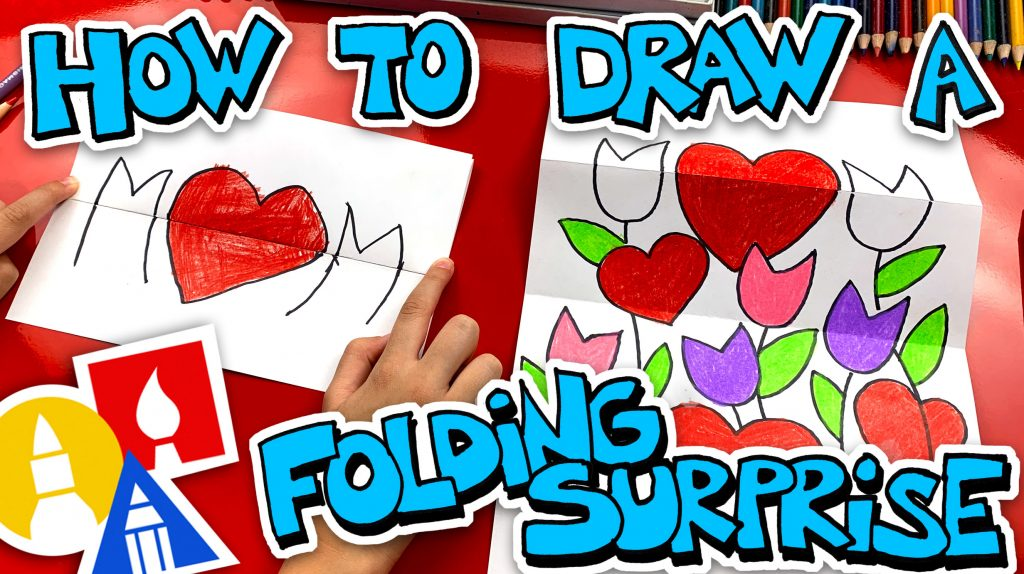 How To Draw A Mothers Day Folding Surprise