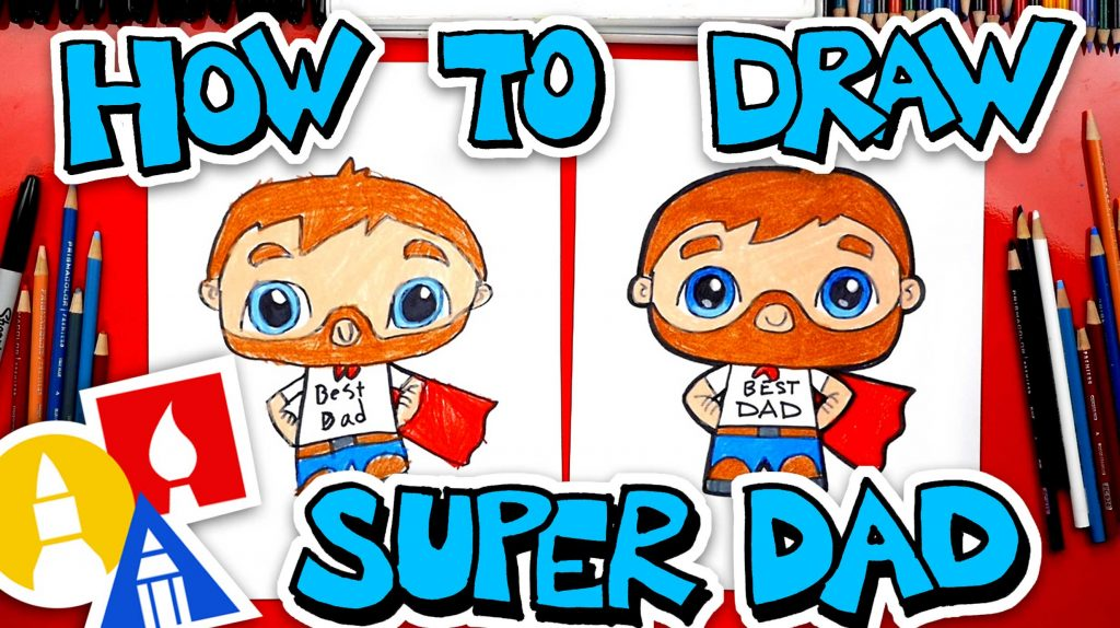 How To Draw Super Dad For Father's Day