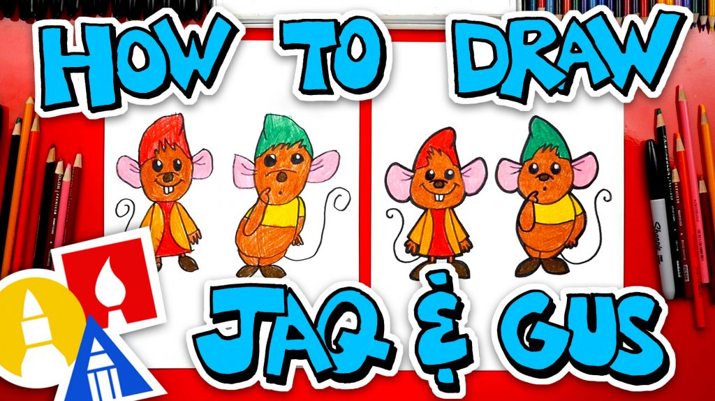 How To Draw Jaq And Gus From Cinderella