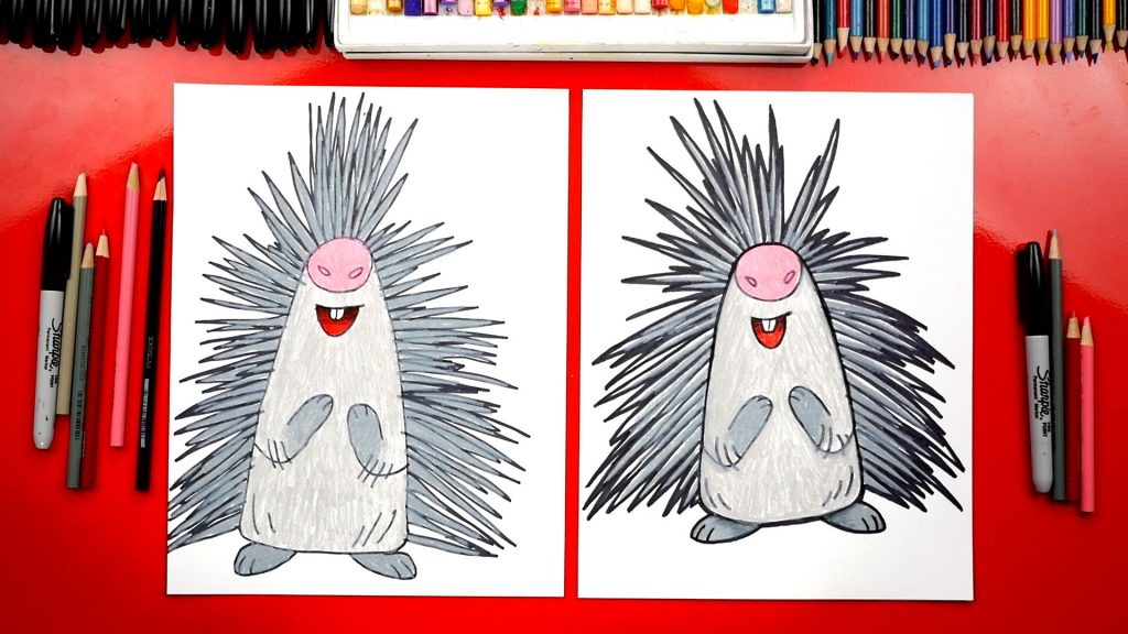 How To Draw Steve The Porcupine From Wonder Park + Giveaway!