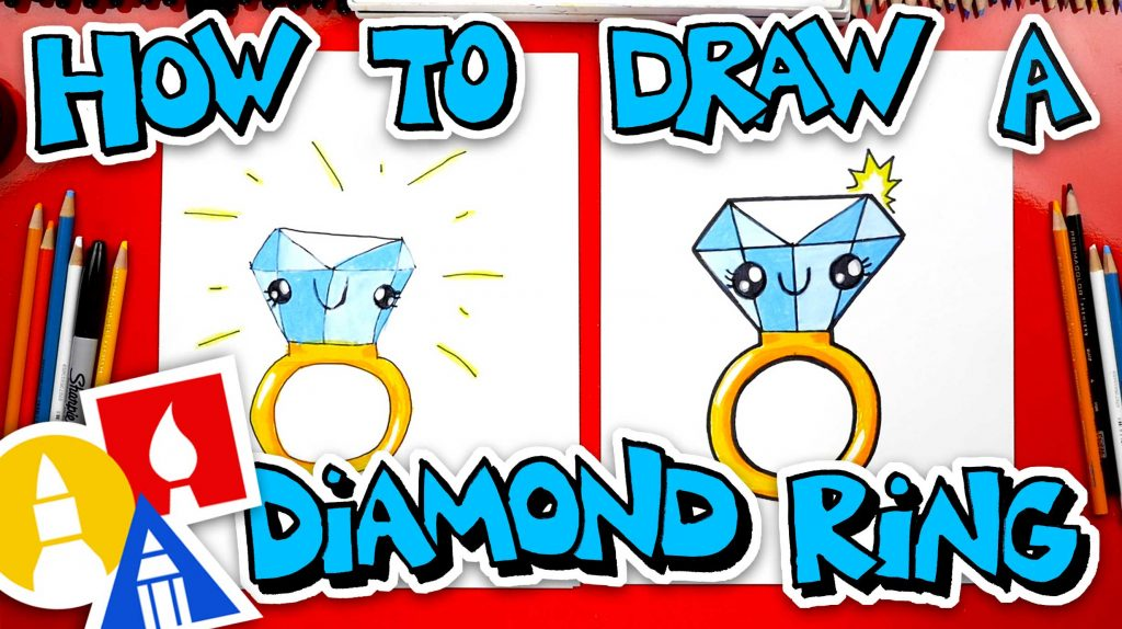 How To Draw A Diamond Ring