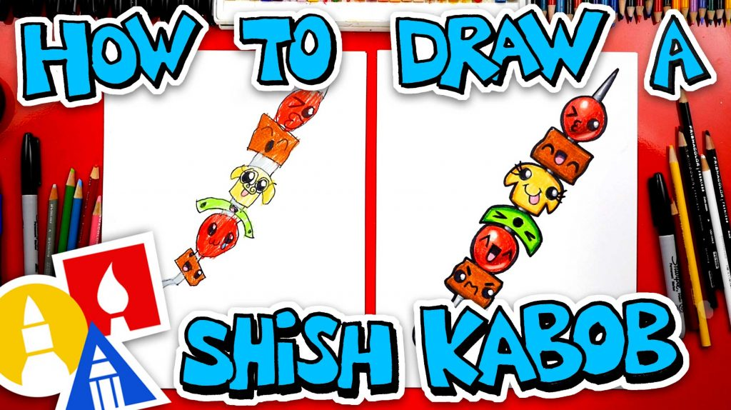 How To Draw A Funny Shish Kabob