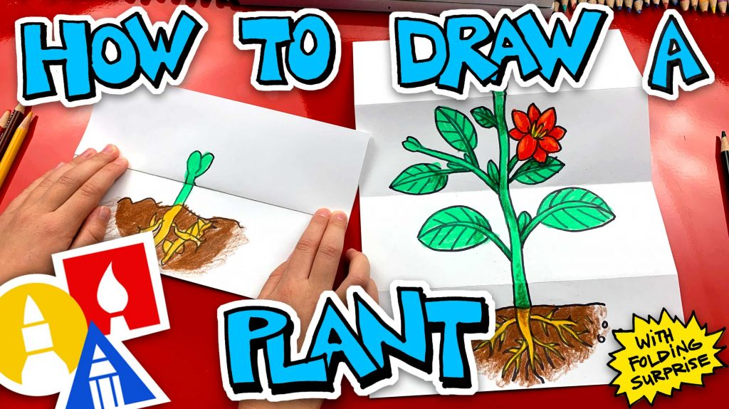 How To Draw A Plant With A Folding Surprise