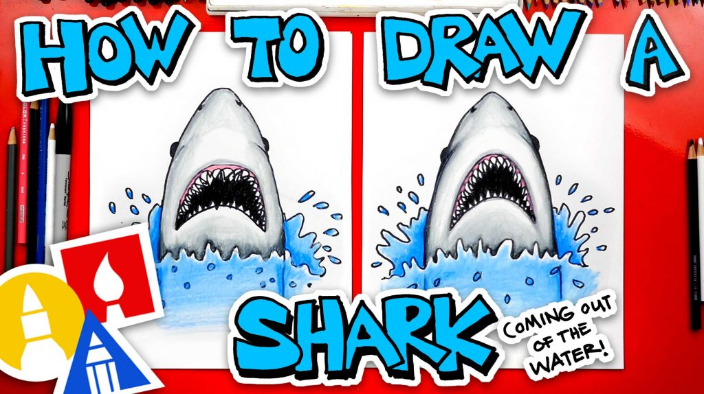 How To Draw A Shark Coming Out Of The Water