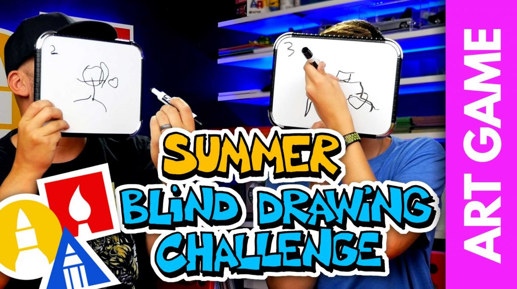 ART GAME: Summer Blind Drawing Challenge!
