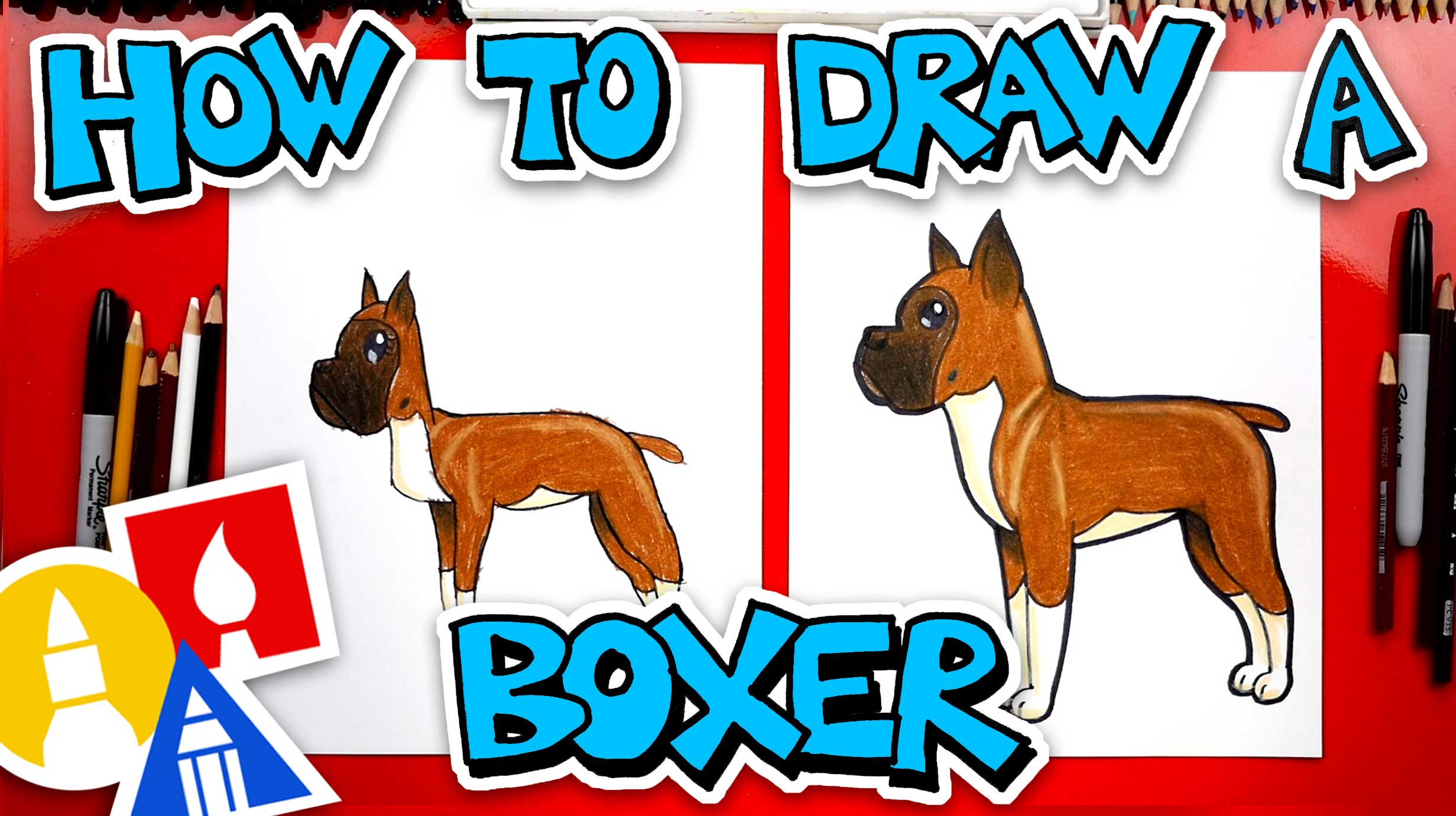 How To Draw A Cartoon Boxer Art For Kids Hub