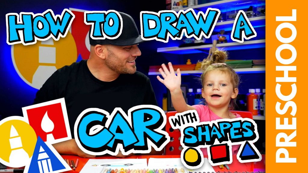 PRESCHOOL: Drawing A Shape Car With Olivia (Rectangle & Circles)