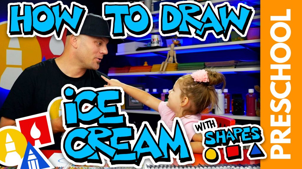 Drawing An Ice Cream Cone With Shapes – Preschool