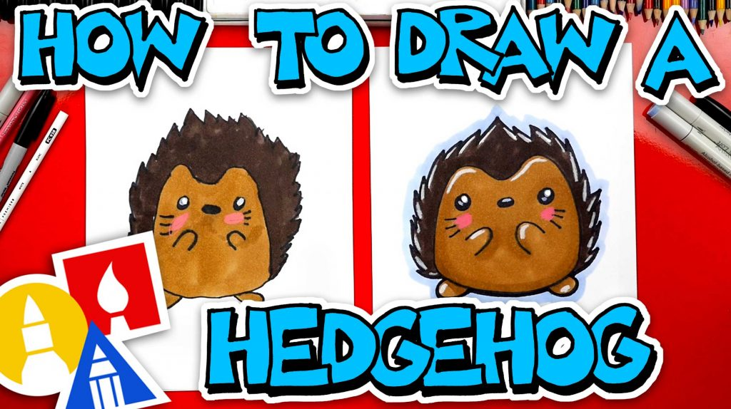 How To Draw A Cartoon Hedgehog