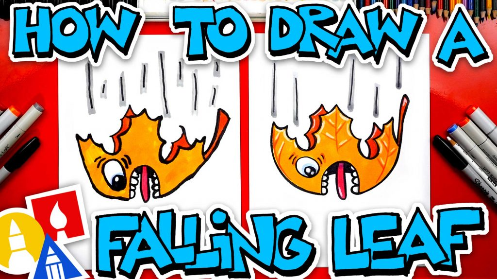 How To Draw A Funny Falling Leaf