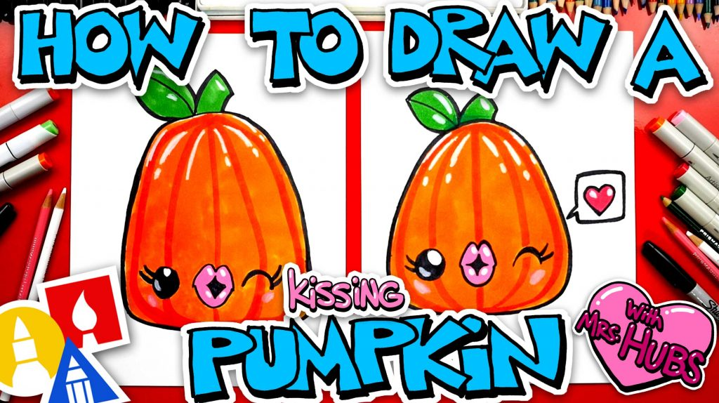 How To Draw A Kissing Pumpkin With Mrs Hubs