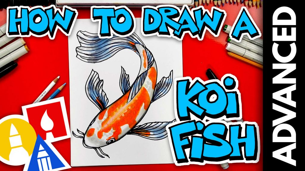 How To Draw A Koi Fish – Advanced 13 and UP