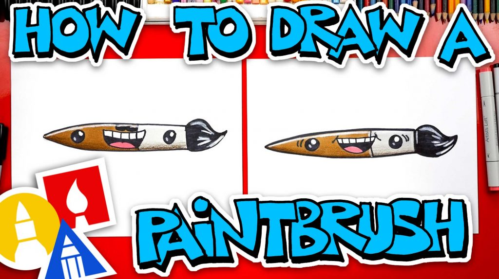 How To Draw A Funny Paintbrush