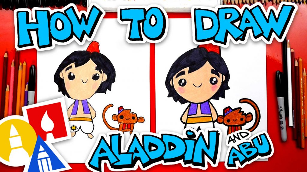 How To Draw Aladdin And Abu