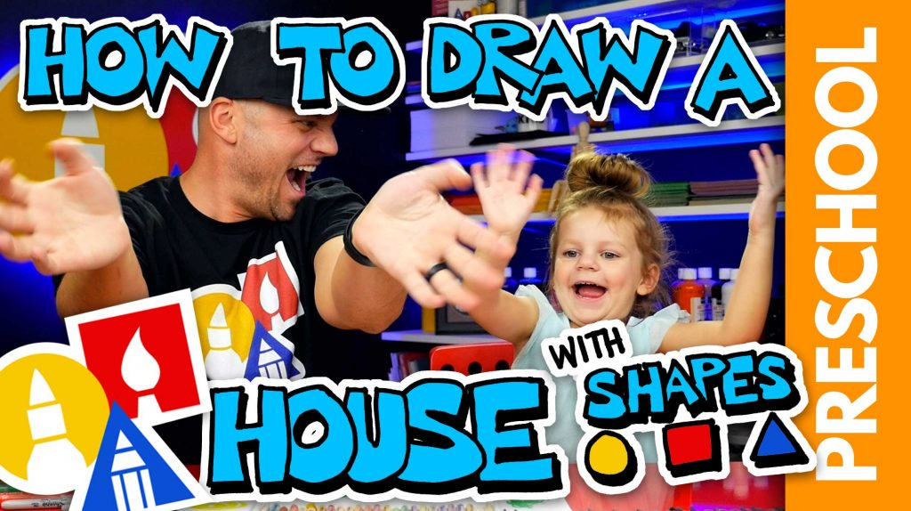 Drawing A House With Shapes – Preschool
