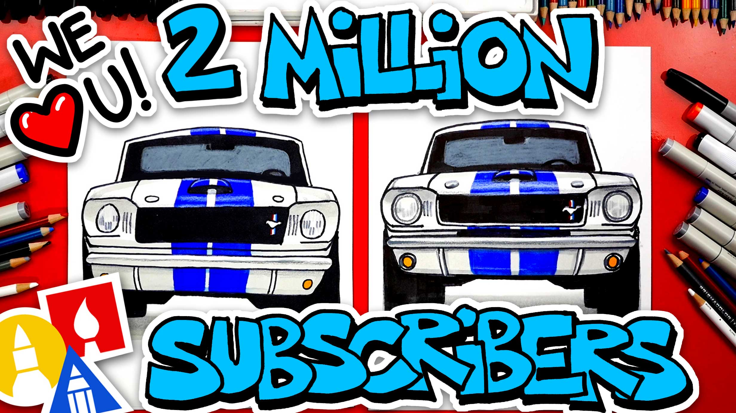 How To Draw A 65 Mustang Gt350 Art For Kids Hub