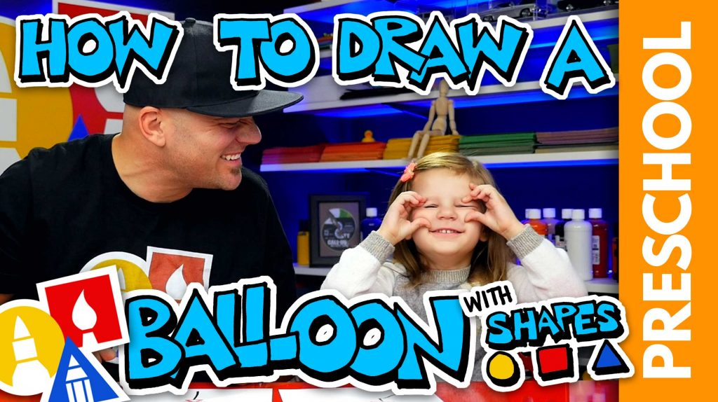 Drawing A Balloon With Shapes – Preschool