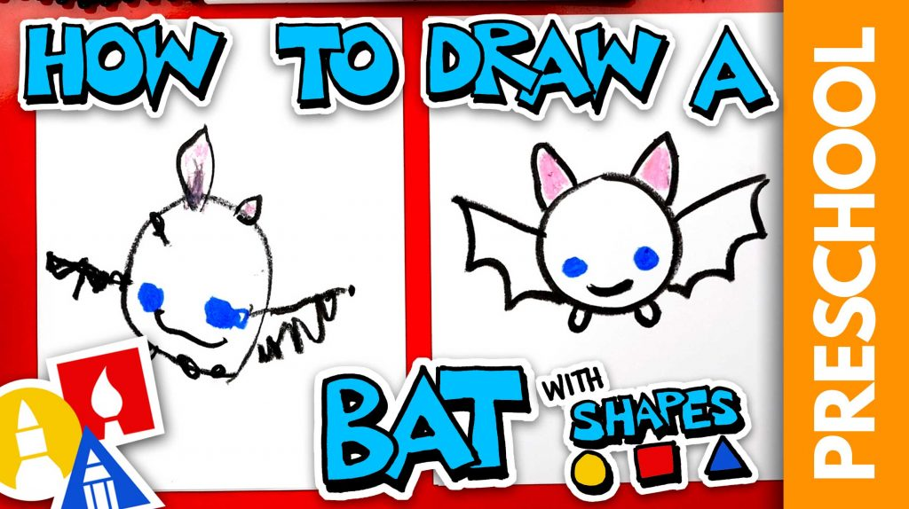 Drawing A Bat With Shapes – Preschool