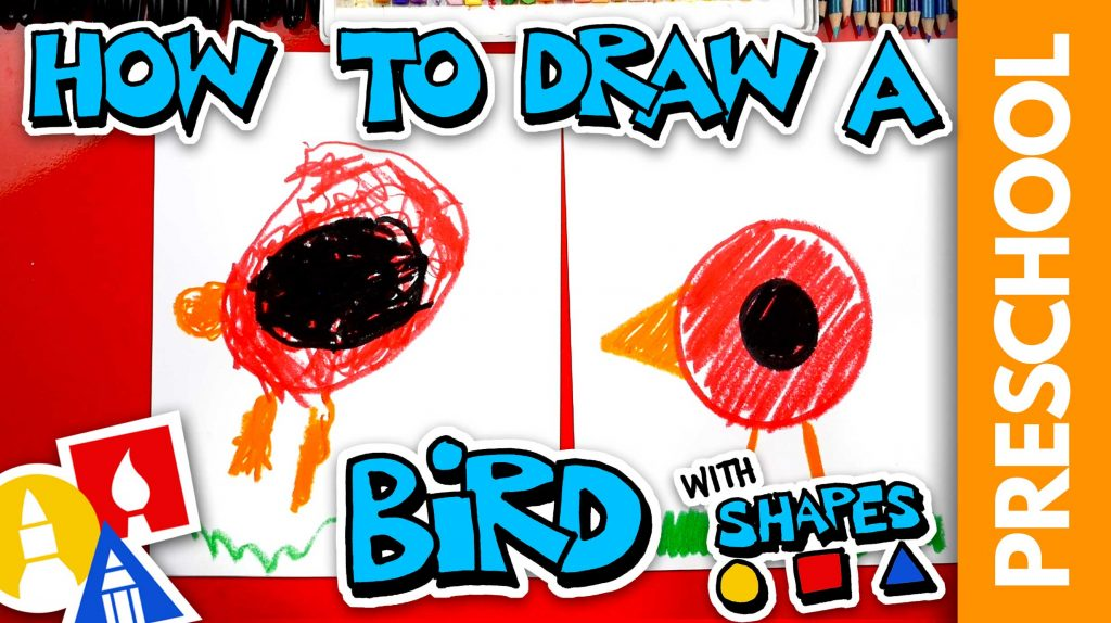 Drawing A Bird With Shapes – Preschool