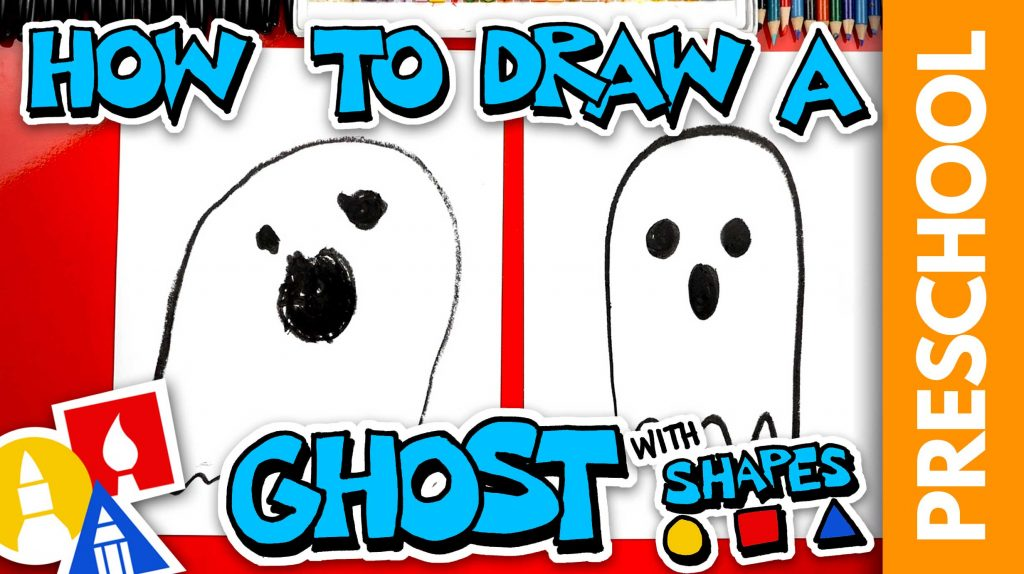 Drawing A Ghost With Shapes – Preschool