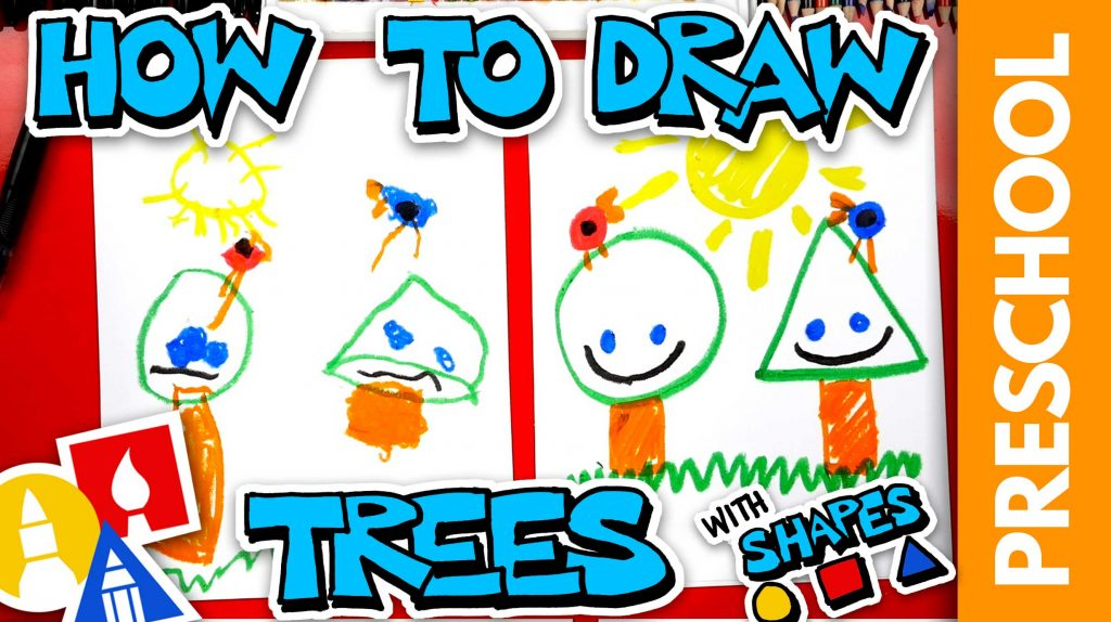 Drawing Trees With Shapes – Preschool