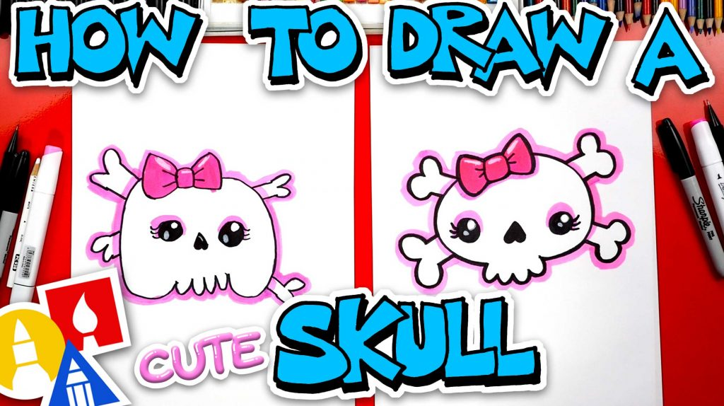 How To Draw A Cute Skull And Crossbones