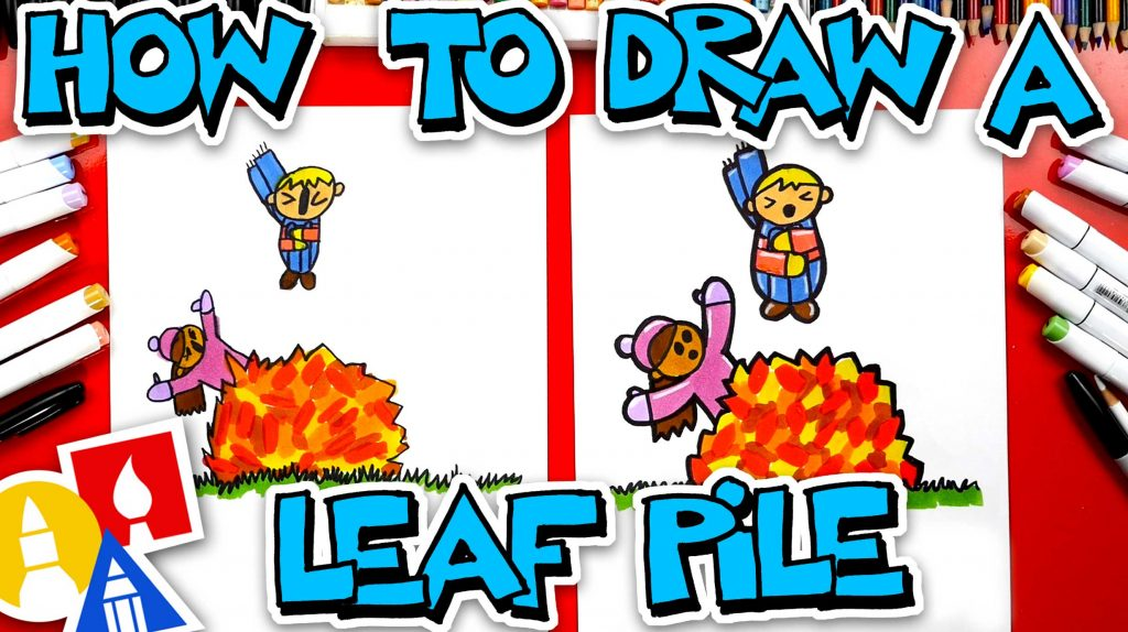 How To Draw A Fall Leaf Pile