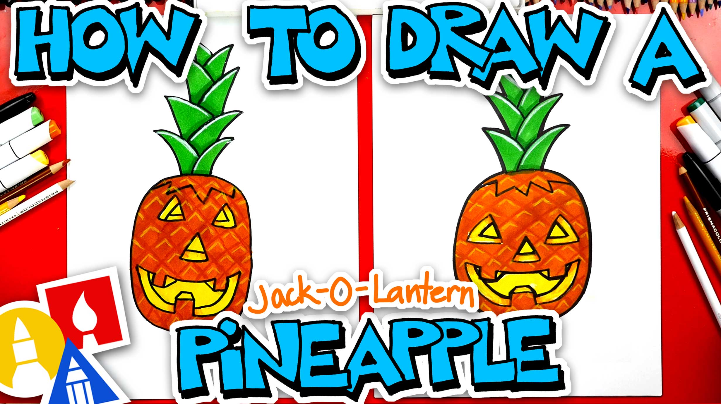How To Draw A Jack O Lantern Pineapple Art For Kids Hub
