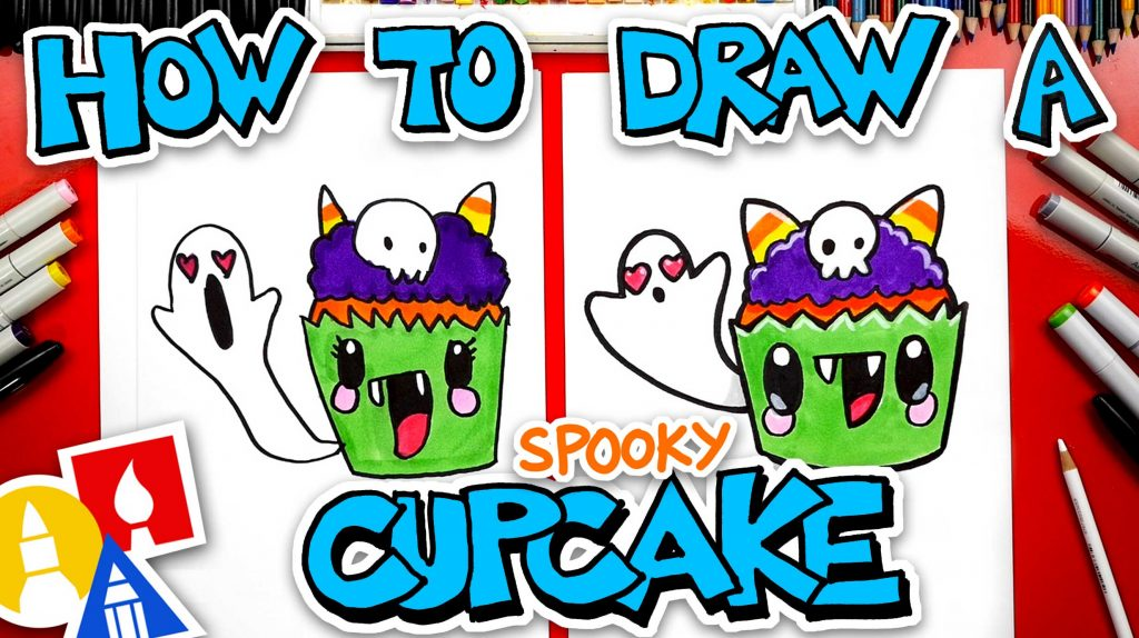 How To Draw A Spooky Cupcake