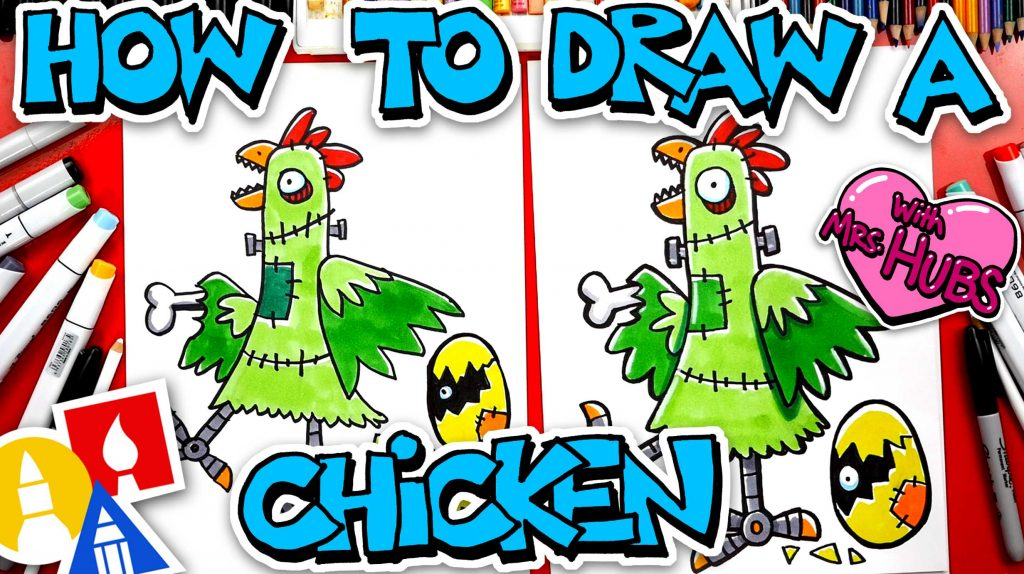 How To Draw A Franken-Chicken With Mrs. Hubs